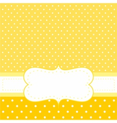 Sunny dots card or invitation on yellow vector