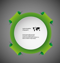 Template infographic with green ring vector