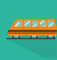train icon set of great flat icons with style vector image
