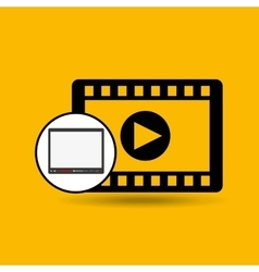 Video player template design vector