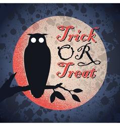 Vintage grungy Halloween design vector