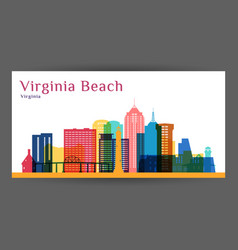 virginia beach city architecture silhouette vector image
