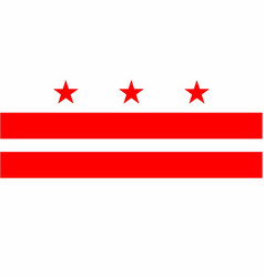 Washington dc state flag vector