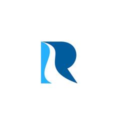 wave letter r logo icon design vector image