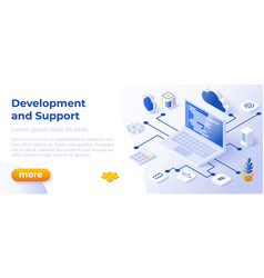web development - banner layout template for vector image