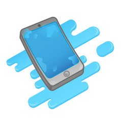 Wet smartphone vector