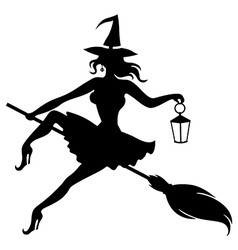 witch fase vector image