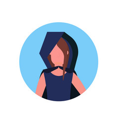 woman wearing grim reaper costume face avatar vector image