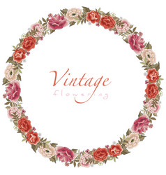 Wreaths or circular frames stylized vintage vector
