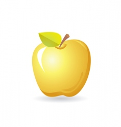 Yellow apple vector