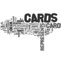 basic tarot for beginners text word cloud concept vector image vector image