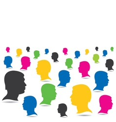 colorful people crowd background vector image