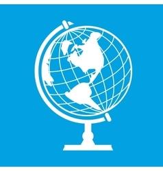 New earth globe vector image vector image