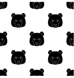panda icon in black style isolated on white vector image