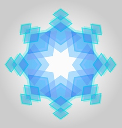 Abstract geometric snowflake vector image vector image