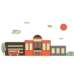 bright flat of school building vector image