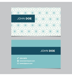 business card pattern blue 02 vector image vector image