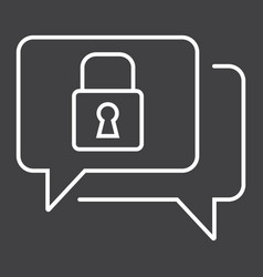 encrypted messaging line icon security vector image vector image