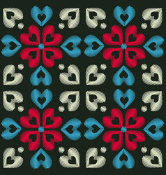 seamless embroidery pattern vector image vector image