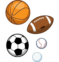 Assorted Sports Balls vector image vector image