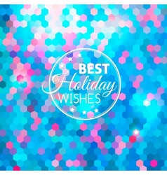 Best holiday abstract blue background vector image vector image