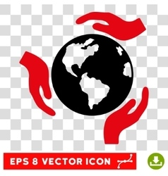 Earth Protection Hands Eps Icon vector image vector image