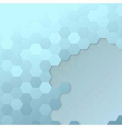 Hexagon cell template - modern background vector image vector image