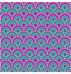 retro circles seamless pattern vector image vector image
