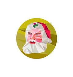 Santa claus father christmas low polygon vector