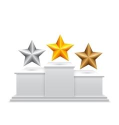Award Stars on Podium vector image vector image