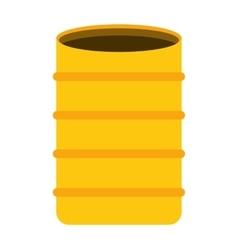 Barrel concrete container icon vector
