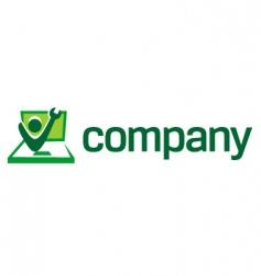 computer repair logo vector image vector image