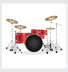 Drum Set Red vector image vector image