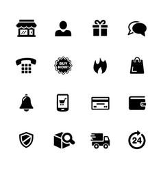 e-shop icons vector image vector image