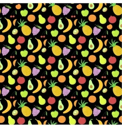 Fruit seamless pattern background with great vector image