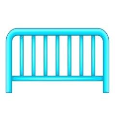 Metal fence icon cartoon style vector image vector image