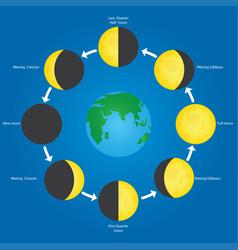 orbit of the moon vector image vector image