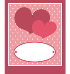 Valentines card or wedding invitation with love vector image