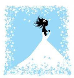 wedding bride vector image vector image