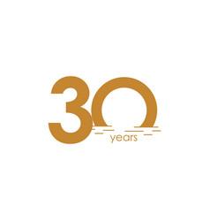30 years anniversary celebration sunset template vector