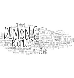 A commonsense guide to exorcism text word cloud vector