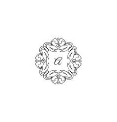 a letter logo monogram design elements line art vector image