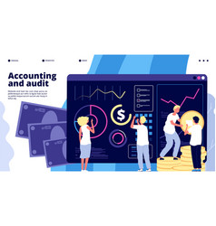 Accounting and audit financial management vector