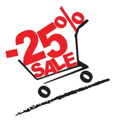 Big sale 25 percentage discount 2 vector image