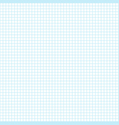 Blank sheet of a school notebook in the cell vector