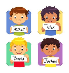 Boys Name 1 vector image