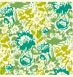 Bright green summer grass meadow seamless pattern vector
