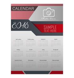 Calendar for 2018 year design template vector