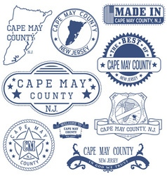 Cape May county New Jersey stamps and seals vector