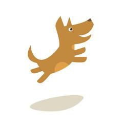 cartoon little jumping dog vector image